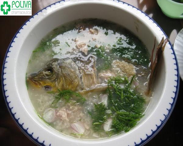 Cháo cá chép món ăn giúp mẹ an thai tốt