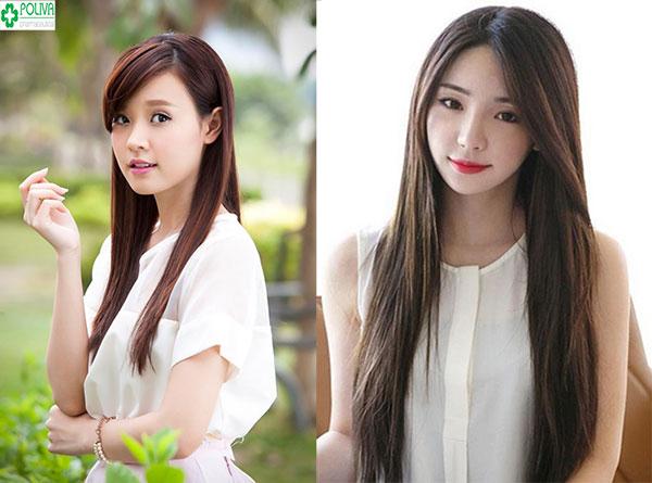 Kiểu tóc dài truyền thống không bao giờ lỗi mốt khi đi dự đám cưới