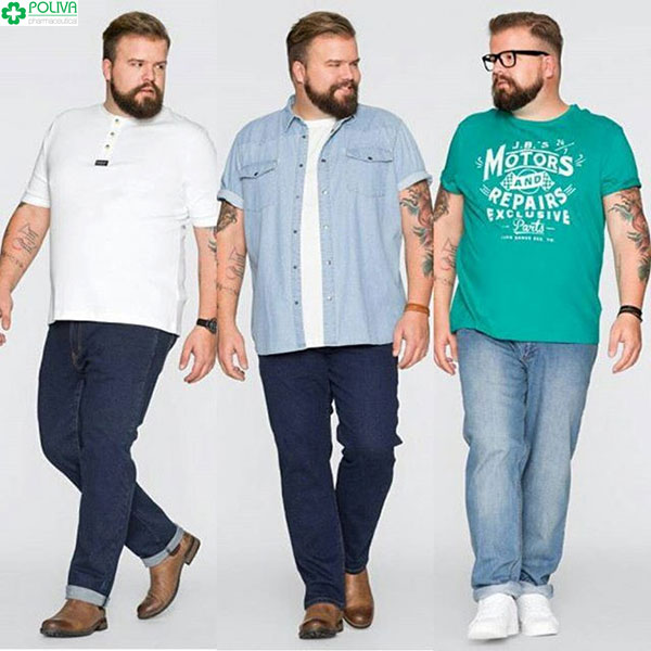 Quần jean cạp cao cũng là sự lựa chọn phù hợp với cánh mày râu