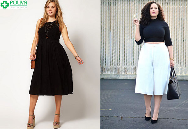 Quần áo đơn sắc hay tông đen - trắng cũng giúp người béo ăn gian cân nặng hoàn hảo