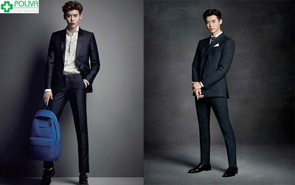 """Phối đồ với quần tây nam chuẩn """"soái ca"""" như Lee Jong Suk với vest bảnh bao"""