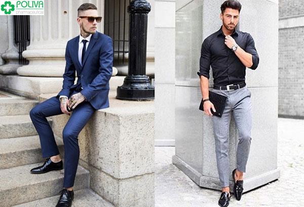 Vest hay sơ mi bảnh bao kết hợp quần tây hoàn toàn có thể mix chung với giày lười và giày tây