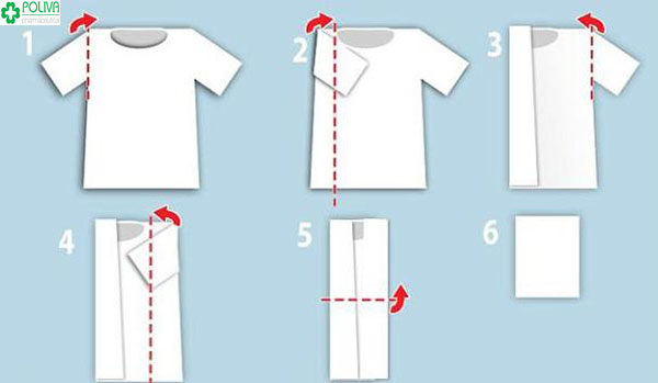 Gấp áo phông thật dễ dàng chưa đến 1 phút