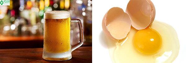 Tắm trắng bằng bia và lòng trắng trứng gà giúp chống lão hóa da rất tốt