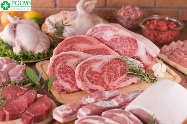 Thịt là thực phẩm không thể thiếu trong thực đơn bé 6 tháng tuổi