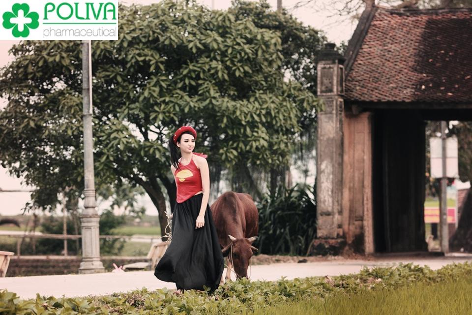 chụp ảnh ở làng cổ đường lâm