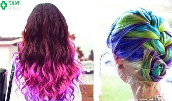 """""""7 sắc cầu vồng"""" với mái tóc nâu tăng nét cá tính cho bạn gái"""
