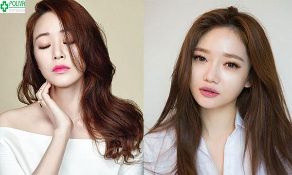 Bên cạnh màu vàng sáng rực rỡ thì nâu vàng cũng là màu tóc đẹp tôn da khiến các cô gái phải mê mẩn