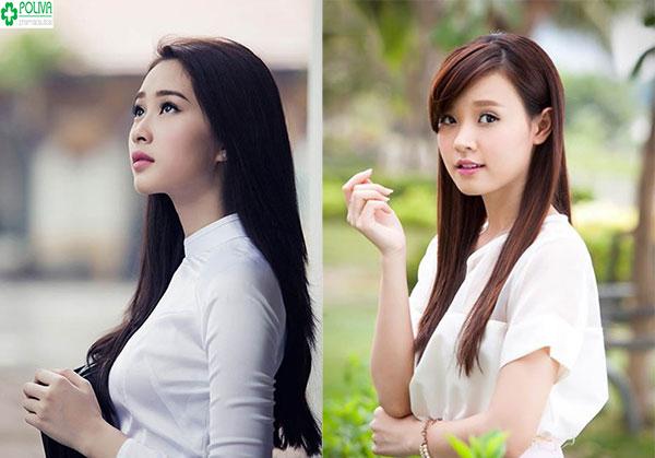 Kiểu tóc truyền thống tôn lên nét đẹp nhẹ nhàng, hiền dịu của người con gái