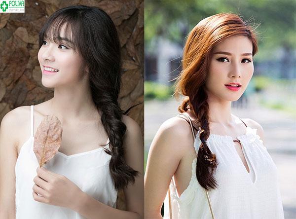 Kiểu tết tóc một bên tăng nét duyên dáng cho bạn gái đi đám cưới