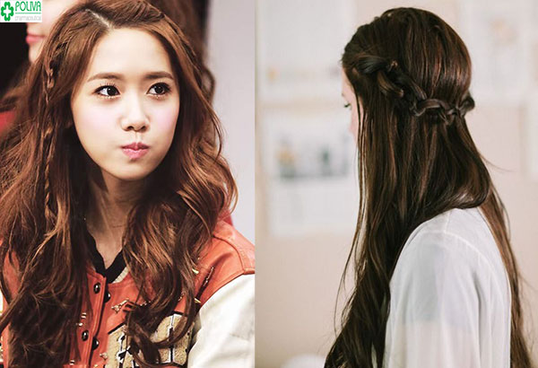 Tết tóc kiểu xương cá khá dễ dàng cho bạn gái