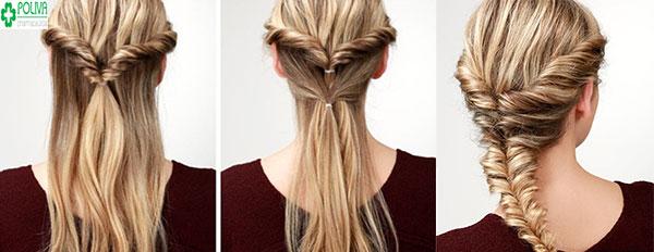 Chỉ mất 5 phút cho bạn mái tóc tết kiểu xương cá tuyệt đẹp