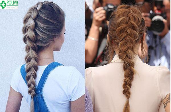 Tết tóc từ đỉnh đầu là kiểu tóc đơn giản, dễ tết và vẫn tôn lên nét duyên dáng cho bạn gái
