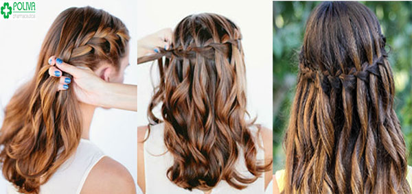 Tết tóc kiểu thác nước tôn nét đẹp, dịu dàng cho người con gái