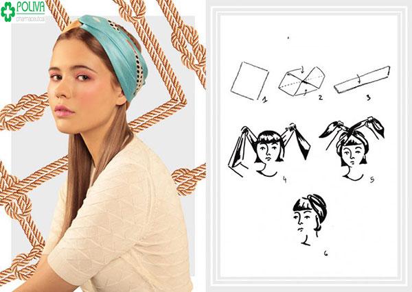 Kiểu quàng khăn Turban mang đến nét đẹp dịu dàng thích hợp với những cuộc dã ngoại ngắn ngày