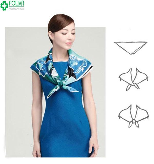 Kiểu quàng khăn phù thủy tạo nên phong cách độc đáo cho bạn gái