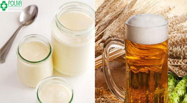 Sự kết hợp của bia và sữa tươi giúp cơ thể bạn mịn màng, trắng sáng hơn