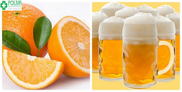 Trắng sáng, hồng hào cùng bia với cam tươi