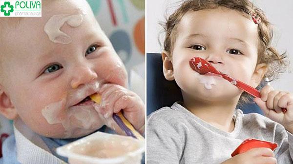 Bổ sung lợi khuẩn cho đường tiêu hóa của trẻ bằng sữa chua
