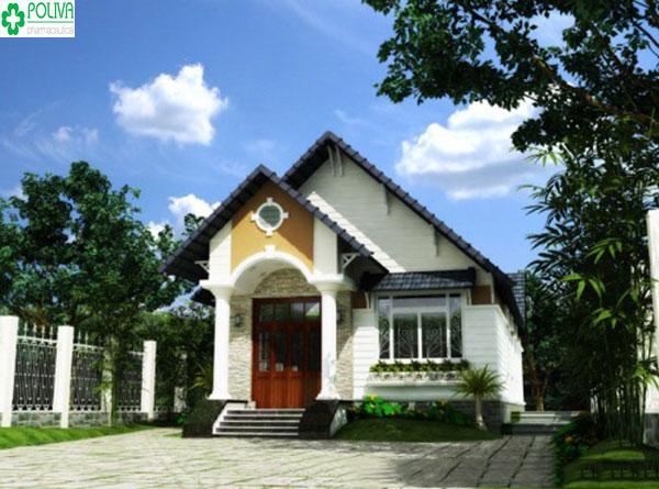 Mẫu nhà cấp 4 hợp với vùng nông thôn Việt Nam hiện nay