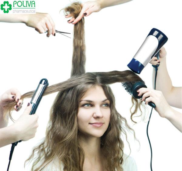 Tác dụng nhiệt là kẻ thù của tóc uốn