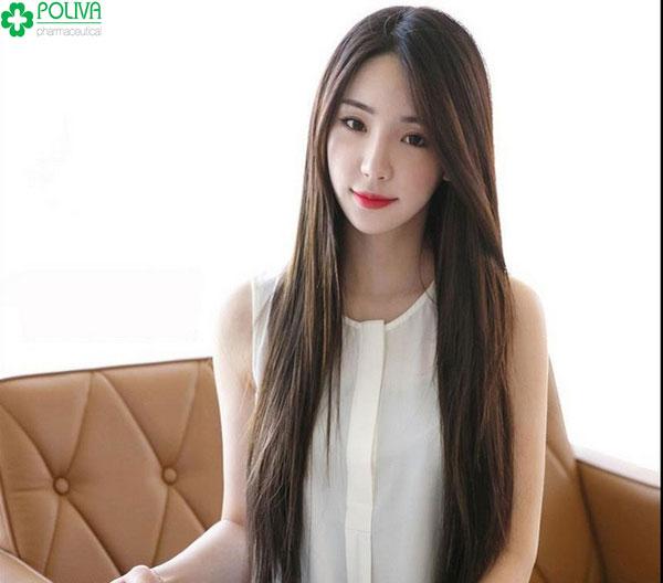 Mẫu tóc dài suôn thẳng