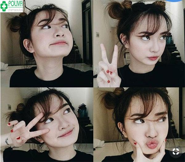 Kaity Nguyễn đáng yêu, nhí nhảnh với kiểu tóc búi búi củ tỏi