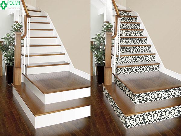 Sang chảnh hơn với từng bậc cầu thang được làm từ gạch