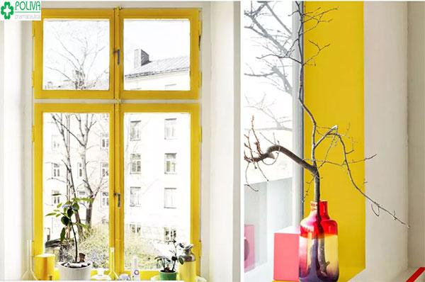 Độc đáo với kiểu trồng cây khô trước cửa sổ