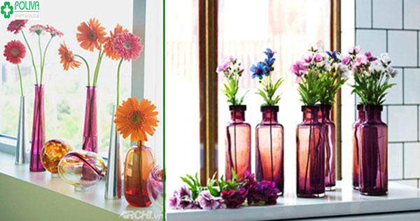 Đa màu sắc với kiểu trang trí cửa sổ bằng những mẫu hoa giấy đẹp