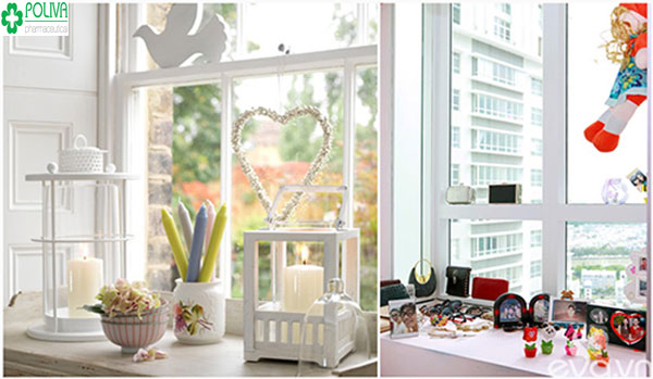1 vài món đồ nhỏ xinh cũng giúp khung cửa sổ đẹp hơn rất nhiều