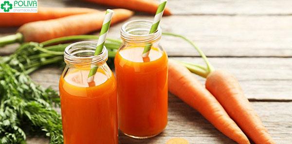 Nước ép cà rốt vừa tốt cho sức khỏe, vừa giúp ngày đèn đỏ đến sớm