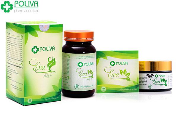 Poliva Eva – Điều hòa nội tiết tố nữ với 2 loại hộp nhỏ và lớn