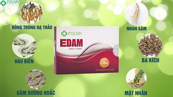 Poliva Edam được biết đến là viên uống giúp nam giới cải thiện tình trạng rối loạn nội tiết tố hiệu quả