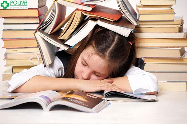 Áp lực về vấn đề học tập cũng là nguyên nhân gây rối loạn nội tiết tố nữ tuổi dậy
