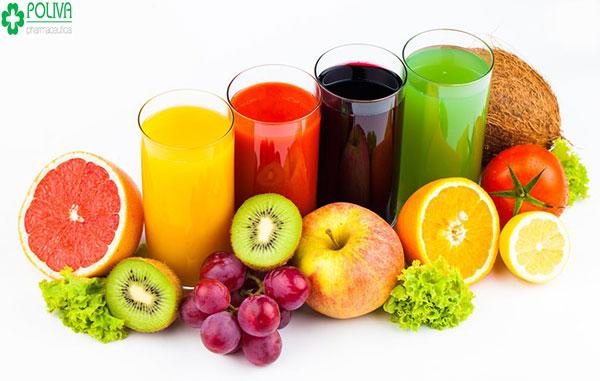 Nước ép hoa quả - bổ sung dinh dưỡng các loại vitamin A, E... cho cơ thể mẹ