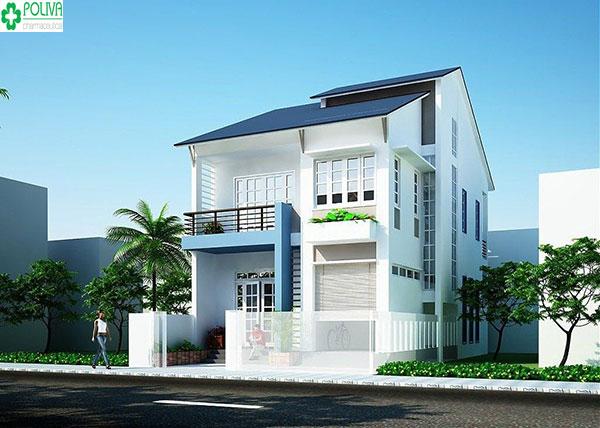Màu xám - ghi xanh tạo cảm giác mát mẻ, trong lành cho ngôi nhà