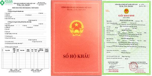 Các giấy tờ cần thiết để đăng ký thủ tục nhập khẩu cho con