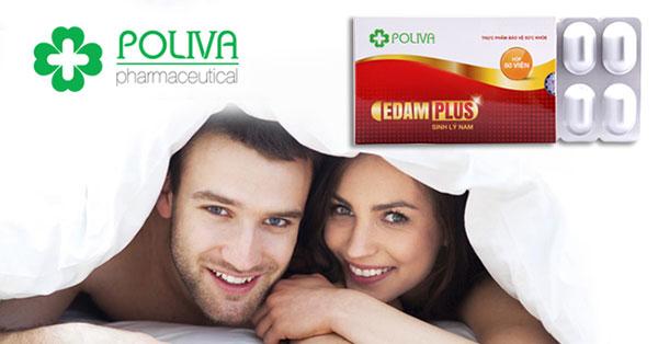 Thực phẩm chức năng Poliva Edam Plus hỗ trợ điều trị xuất tinh sớm hiệu quả 100%