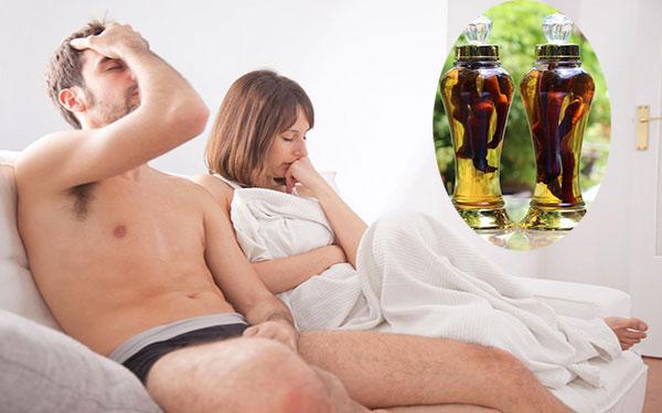 """Xuất tinh sớm và cách điều trị bằng """"thần dược"""" rượu thuốc"""