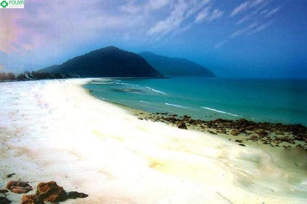 Làn nước xanh trong vắt ở bãi Sơn Hào