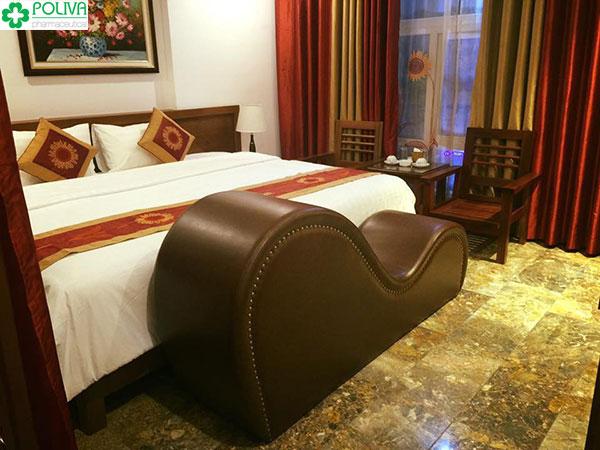 Khách sạn cao cấp thường trang bị dòng ghế tình yêu tantra bọc da