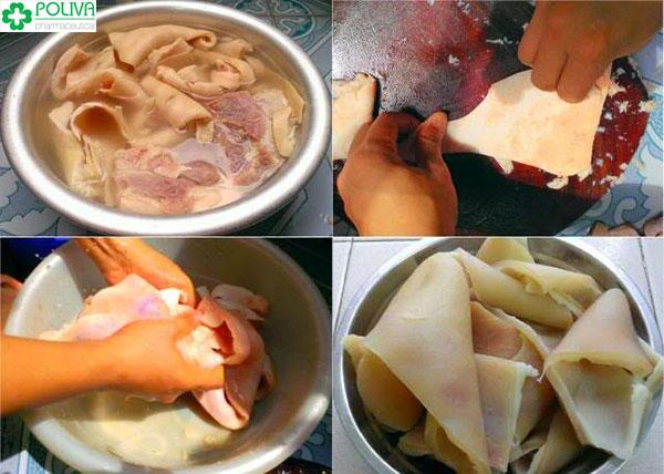 Thịt lợn và da lợn cần chế biến cẩn thận, cầu kỳ mới có thể ra được món ngon