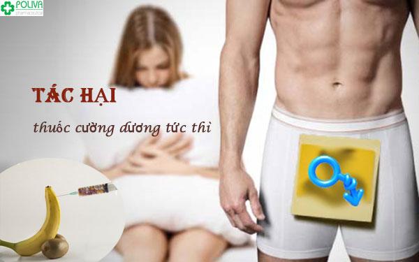 Lam dụng thuốc cường dương tức thì, nam giới đón nhận vô số tác hại