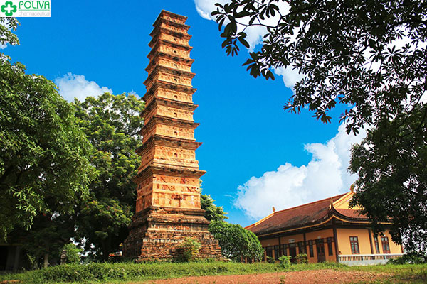 Toàn cảnh tháp Bình Sơn cổ kính trong lòng Vĩnh Phúc