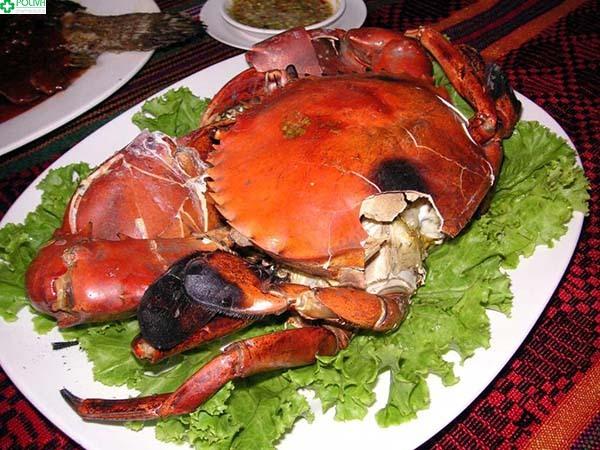 Cua đá - món ăn hấp dẫn đảo Cù Lao