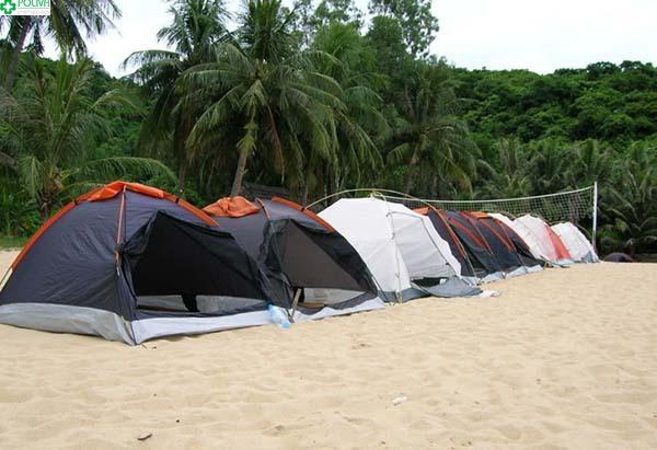 Cắm trại là hình thức được khá nhiều du khách lựa chọn để nghỉ ngơi