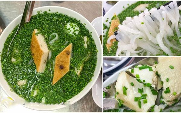 Mãn nhãn với bát bánh canh hẹ Phú Yên xanh mướt