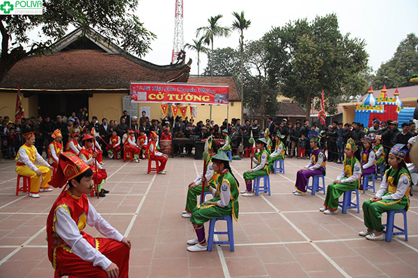 Chơi cờ người - trò chơi dân gian hấp dẫn ở Hội Lim.
