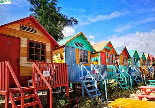 Khu Beach Hut C đầy sắc màu thu hút bất cứ ai
